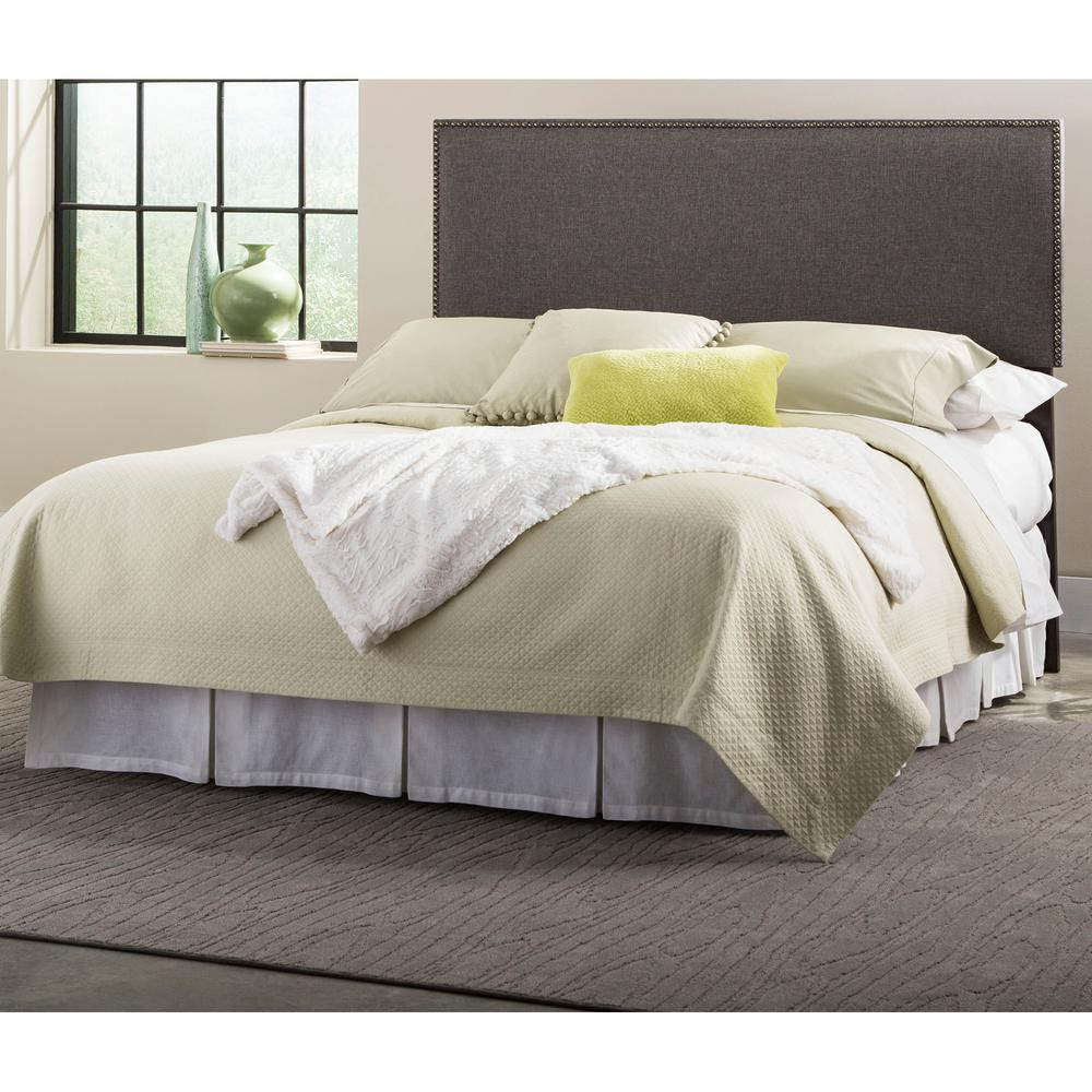 fashion bed group brookdale gray queen size upholstered headboard panel with solid wood. Black Bedroom Furniture Sets. Home Design Ideas