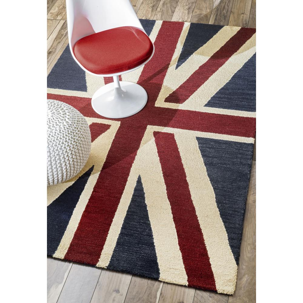 Nuloom Union Jack Flag Denim 5 Ft X 8 Area Rug