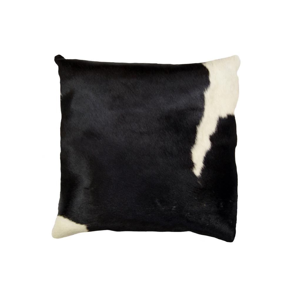 Torino Black And White 18 In X Cowhide Pillow
