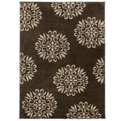 Exploded Medallions Grey 10 ft. x 14 ft. Indoor Area Rug