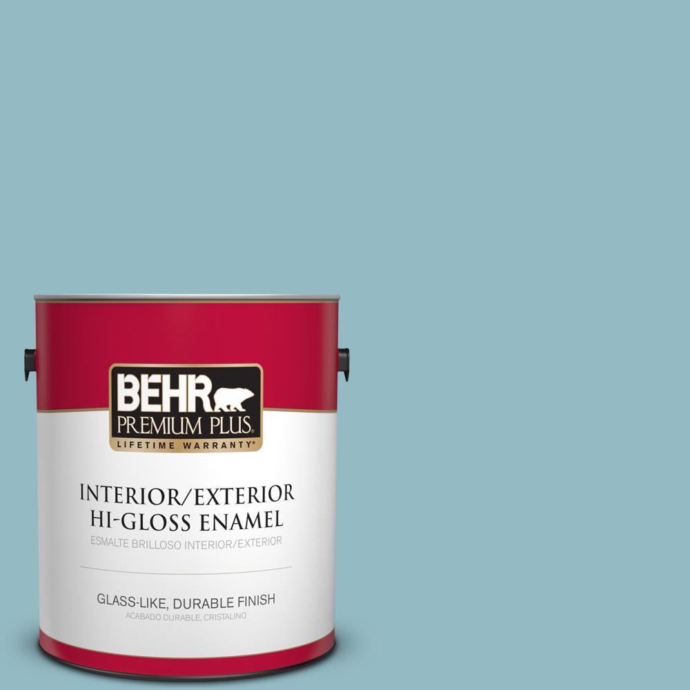 1 gal. #T18-13 Casual Day Hi-Gloss Enamel Interior/Exterior Paint