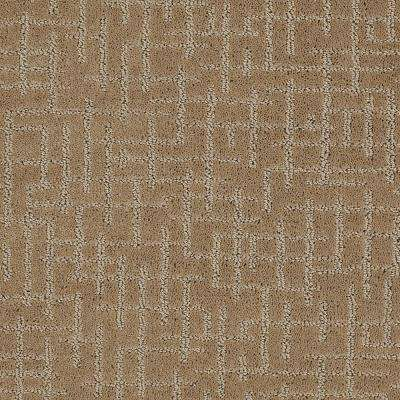 Carpet Sample - Latice - Color Maple Pattern 8 in. x 8 in.