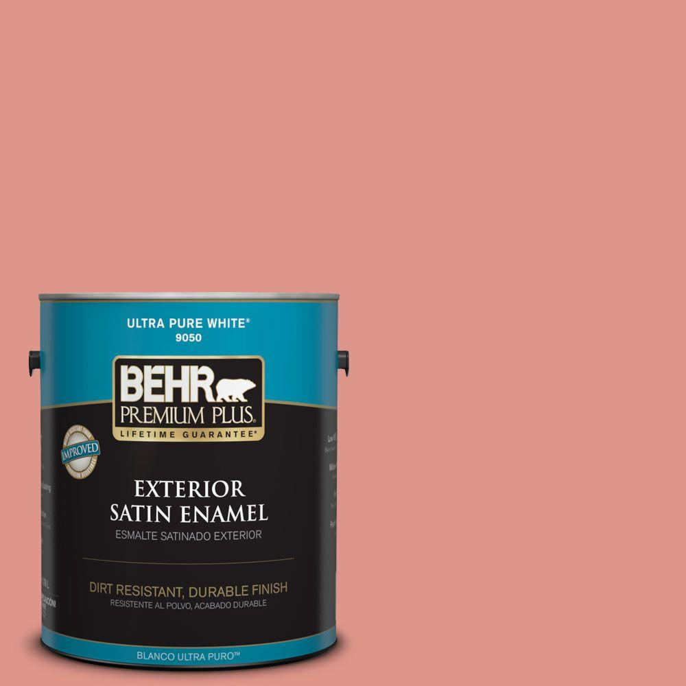 1-gal. #BIC-18 Fresh Watermelon Satin Enamel Exterior Paint