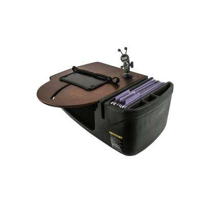 Roadmaster Car Desk with Inverter and Phone Mount Mahogany