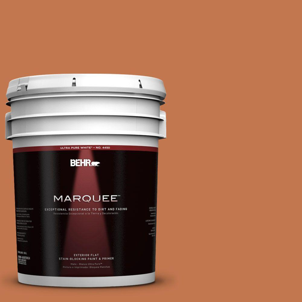 BEHR MARQUEE 5-gal. #240D-6 Chivalry Copper Flat Exterior Paint
