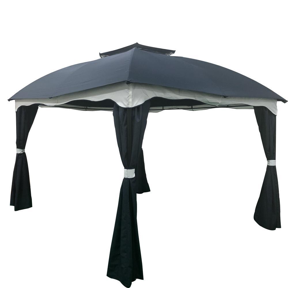 Gravina 12 ft. x 10 ft. Blue Canopy Gazebo