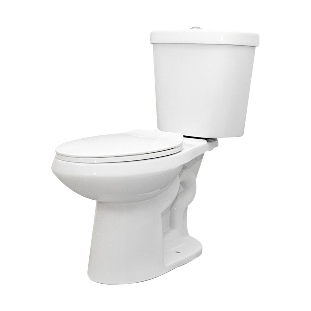 Excellent Glacier Bay 2 Piece 1 1 Gpf 1 6 Gpf High Efficiency Dual Flush Complete Elongated Toilet In White Seat Included Caraccident5 Cool Chair Designs And Ideas Caraccident5Info
