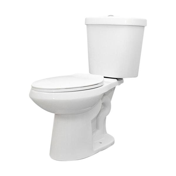 2-piece 1.1 GPF/1.6 GPF High Efficiency Dual Flush Complete Elongated Toilet in White, Seat Included