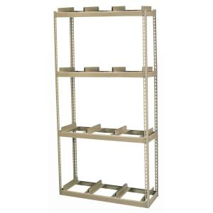 Edsal 84 inch H x 42 inch W x 16 inch D 4-Shelf Steel Commercial Rivet Lock Record Storage Rack With Rail in... by Edsal