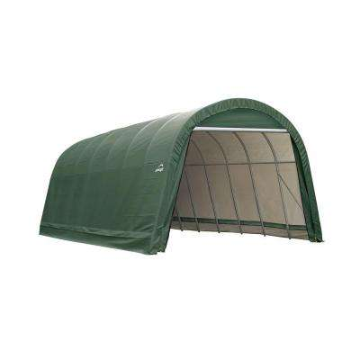 14 ft. x 20 ft. x 12 ft. Green Steel and Polyethylene Garage without Floor
