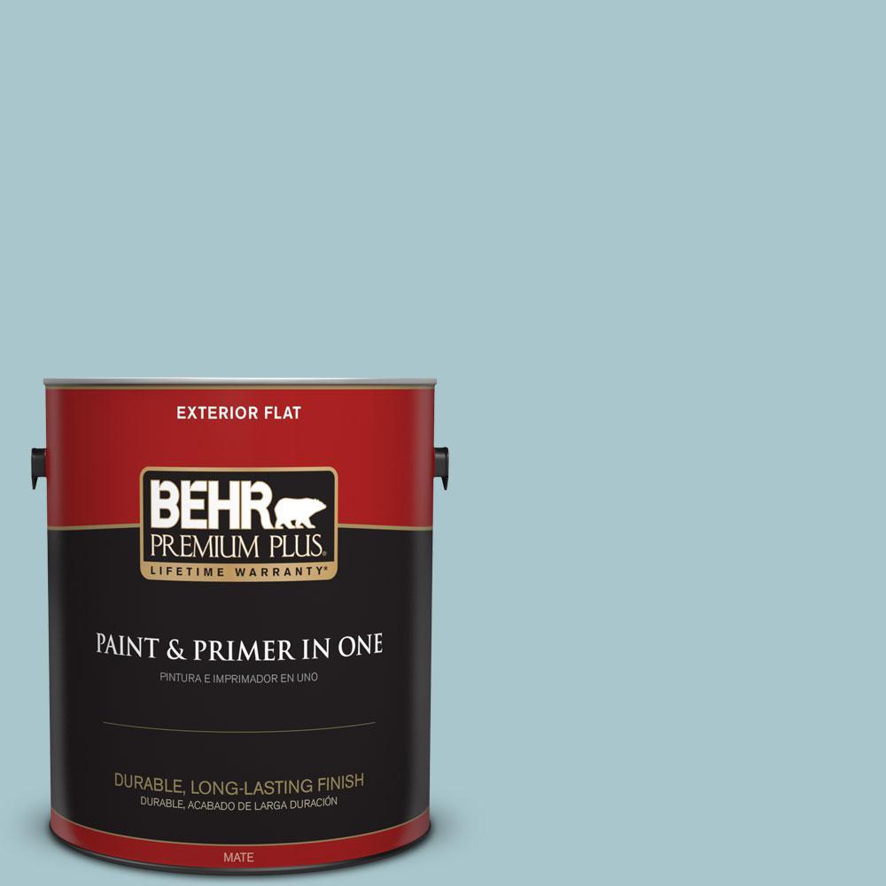 BEHR Premium Plus 1-gal. #S450-3 Spring Storm Flat Exterior Paint