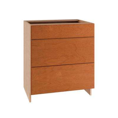 36x34.5x24 in. Ancona Sink Base Cabinet with Pullout Caddy 2 Soft Close Doors and 2 False Drawer Fronts in Cumin