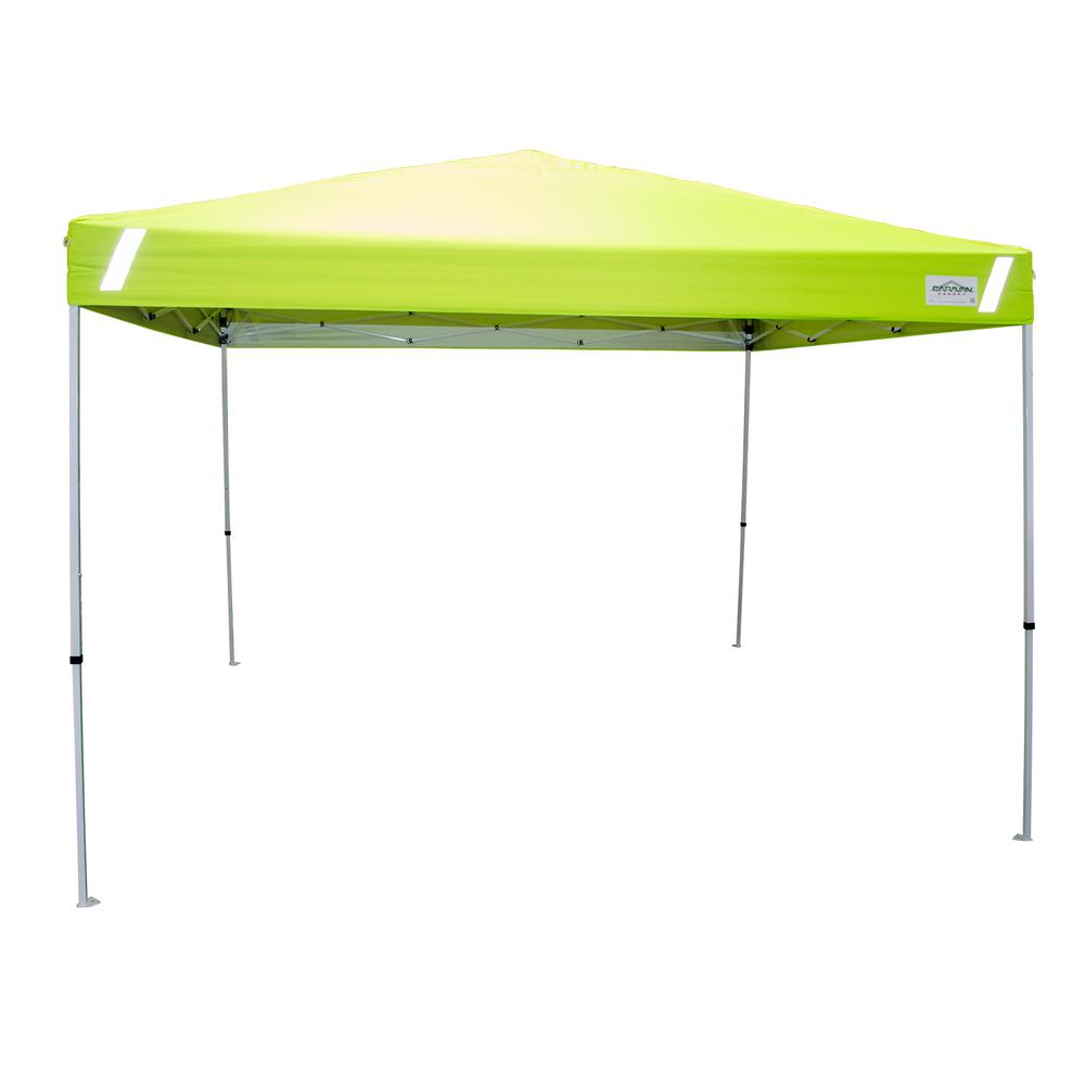 Caravan Canopy Pro V-Series 10 ft  x 10 ft  Hi-Viz Safety Straight Leg  Canopy