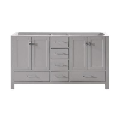 Caroline Avenue 60 in. W Bath Vanity Cabinet Only in Cashmere Gray