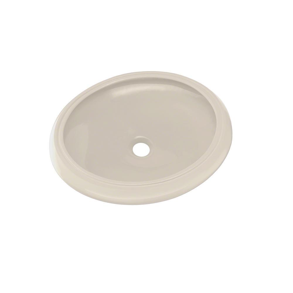Toto curva 17 in undermount bathroom sink in sedona beige lt181 12 the home depot Toto undermount bathroom sinks