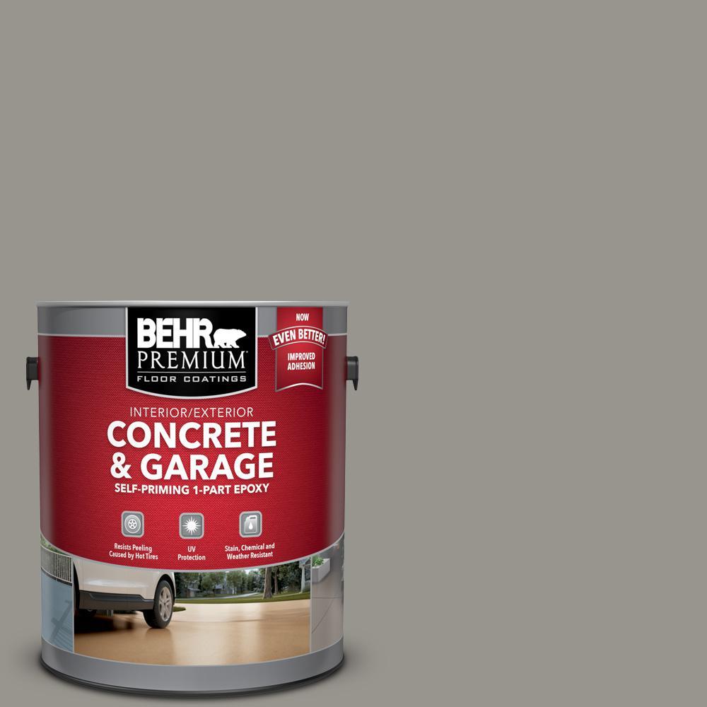 BEHR Premium 1 gal. #N360-4 Battleship Gray Self-Priming 1-Part Epoxy Satin Interior/Exterior Concrete and Garage Floor Paint