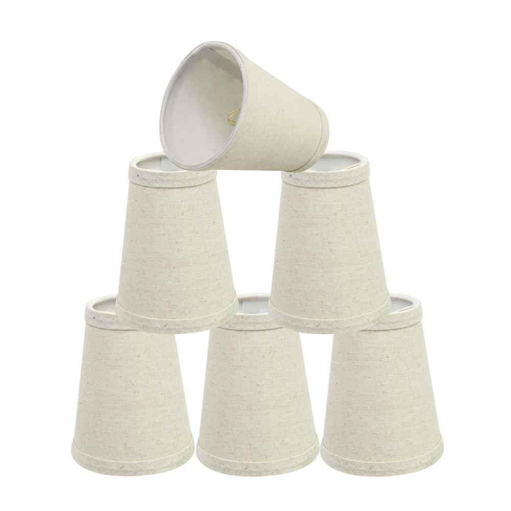 4 in. x 5 in. Oatmeal Hardback Empire Lamp Shade (6-Pack)