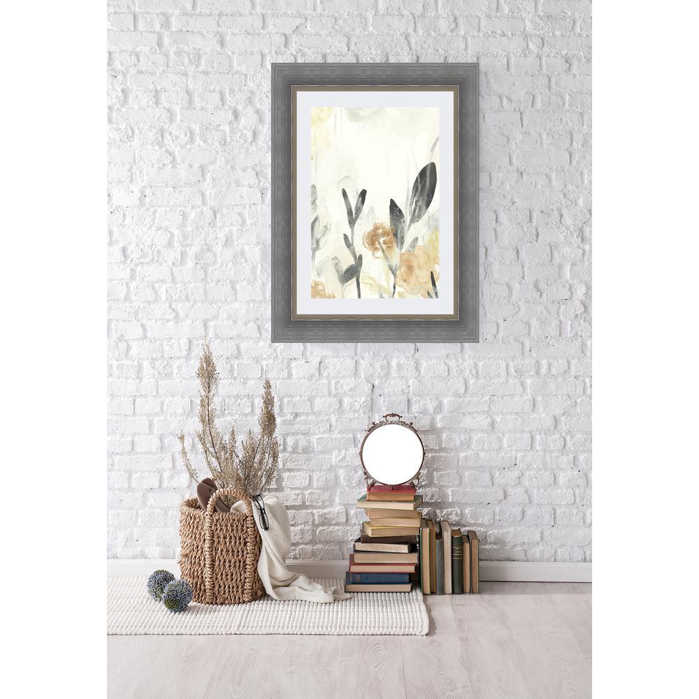 33.5 in. x 27.5 in. 'Garden Flow II' by June Erica Vess Fine Art Paper Print Framed with Glass Wall Art