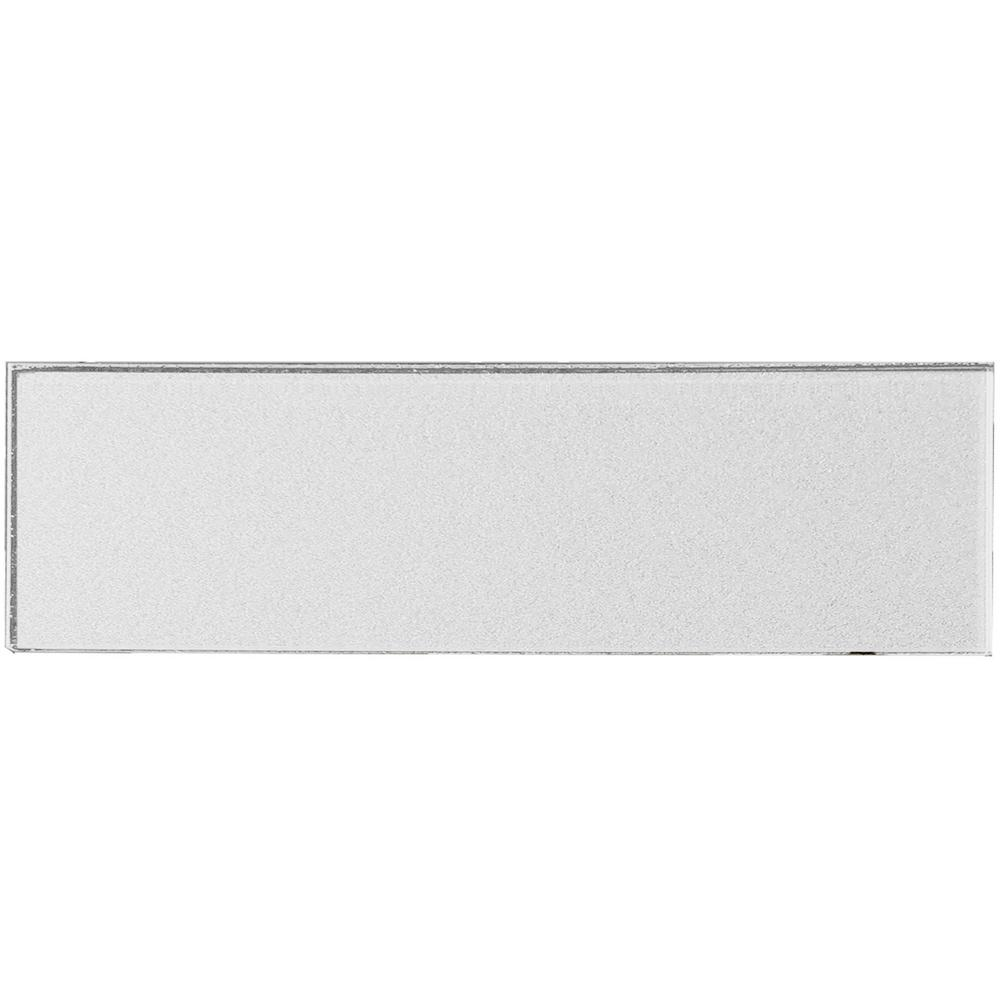 Secret Dimensions 4 in. x 16 in. White Glass Glossy Peel