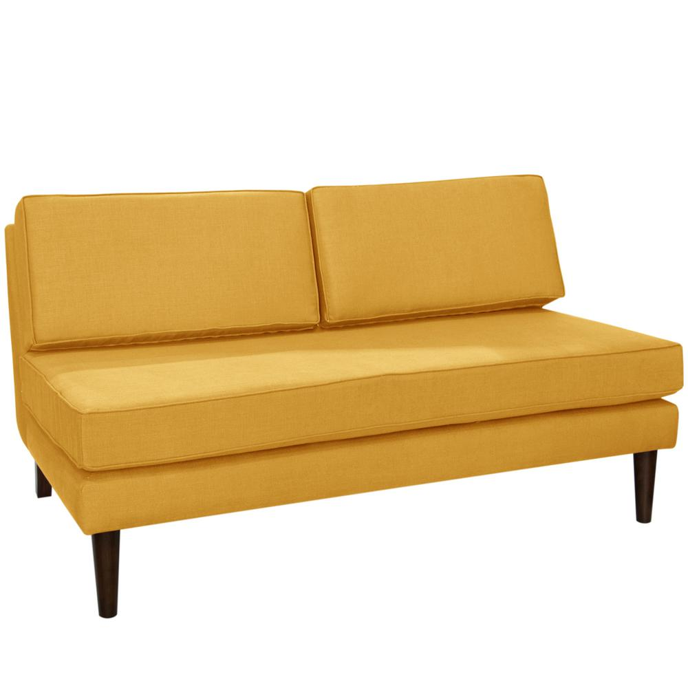 Finest Klein Mustard Armless Chaise-2406KLNMST - The Home Depot ZH38
