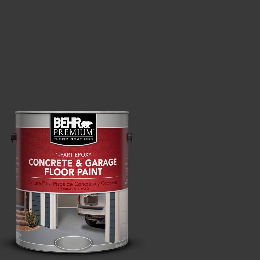 1 gal. #PPF-59 Raven Black 1-Part Epoxy Concrete and Garage Floor Paint