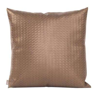 20 in. x 20 in. Brown Decorative Pillow Weave Bronze