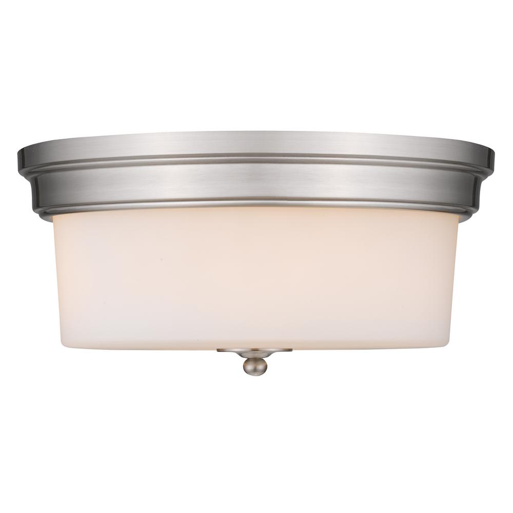 Golden Lighting Multi-Family 3-Light Pewter Flush Mount
