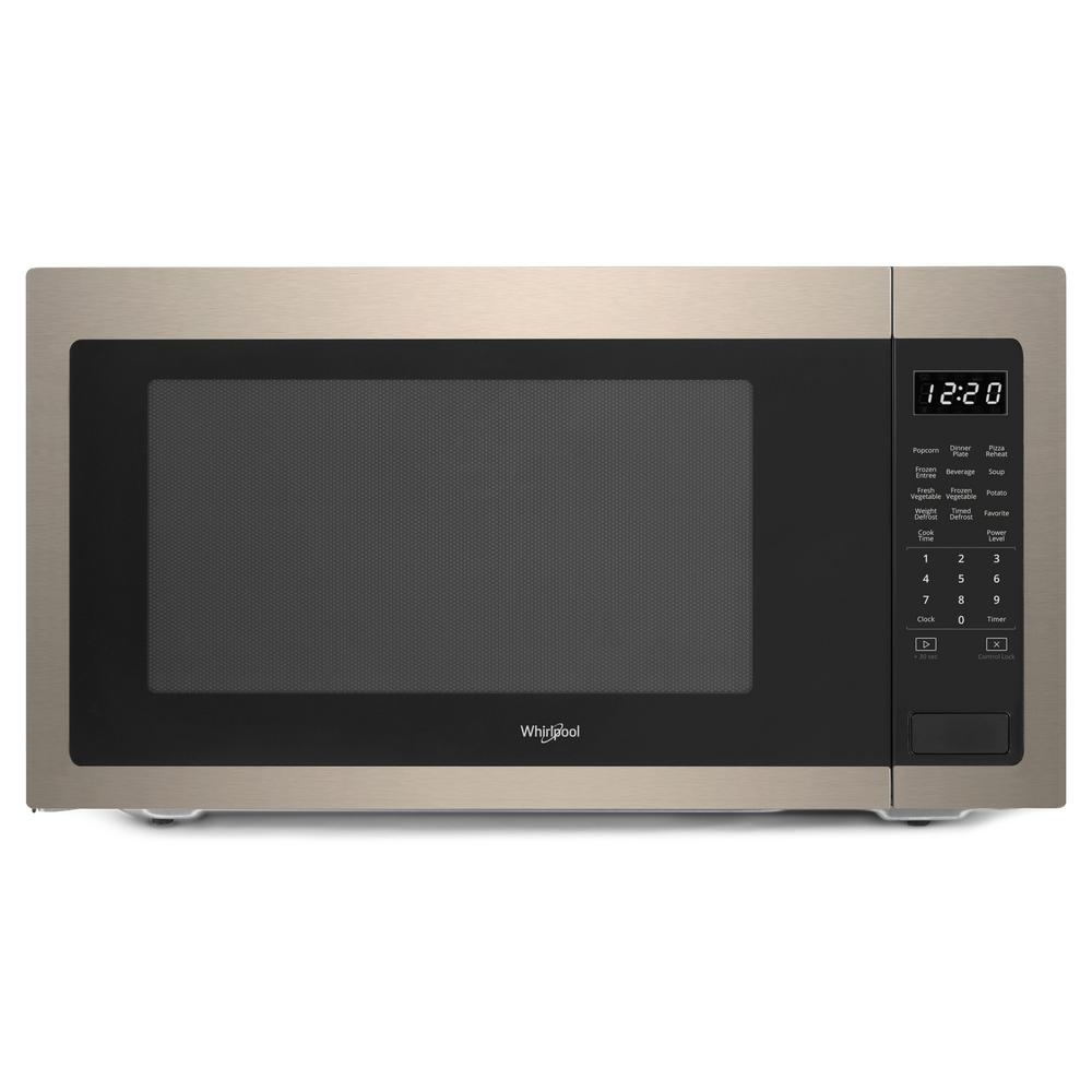 Whirlpool 2.2 cu. ft. Countertop Microwave in Sunset Bronze with 1,200-Watt Cooking Power