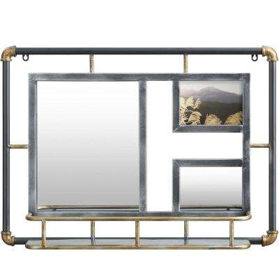 Systems Storage Rustic Gray Wall Mirror