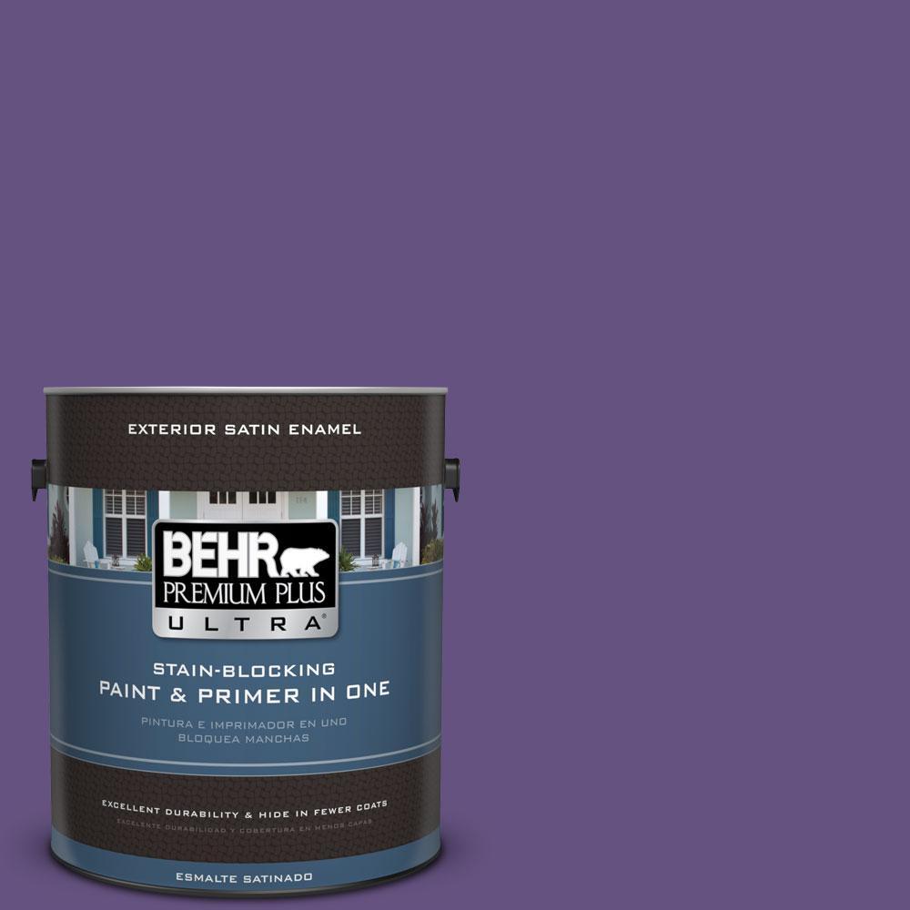 BEHR Premium Plus Ultra Home Decorators Collection 1-gal. #HDC-MD-25 Virtual Violet Satin Enamel Exterior Paint