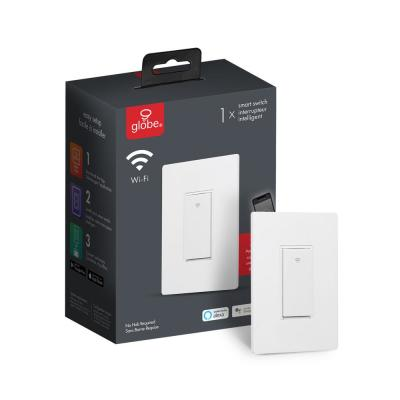 Wi-Fi Smart White On/Off Switch, No Hub Required, Voice Activated
