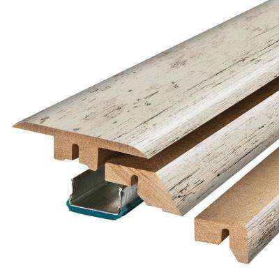 Salted Grey Oak 3/4 in. Thick x 2-1/8 in. Wide x 78-3/4 in. Length Laminate 4-in-1 Molding