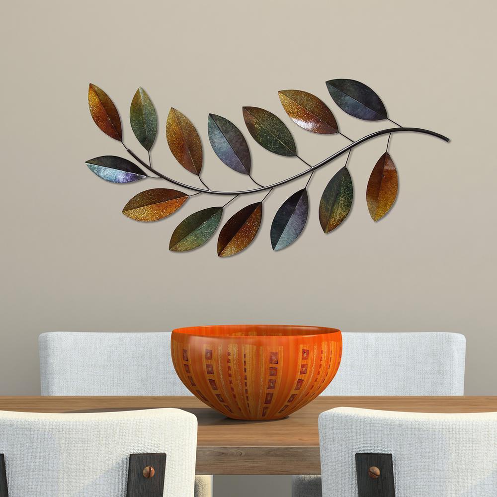Stratton Home Decor Patina Scroll Leaf Metal Wall Art ~ Stratton home decor geometric tiles