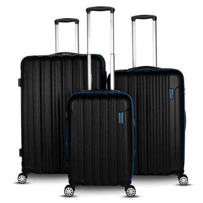 Hola Collection 3-Piece Blue Expandable Hard-Side Spinner Luggage