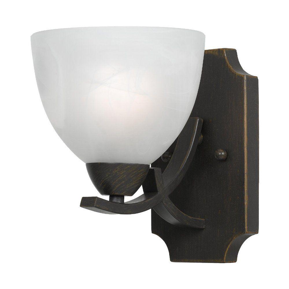 Filament Design Warna 1-Light Bronze Sconce