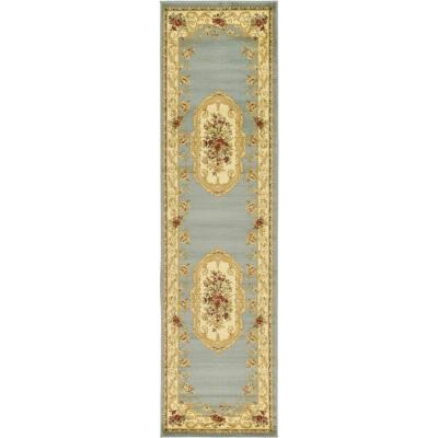 Versailles Henry Light Blue 2' 7 x 10' 0 Runner Rug