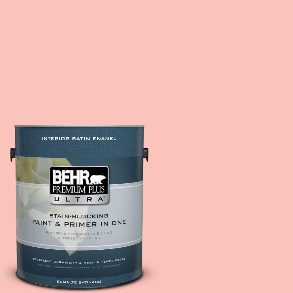 BEHR Premium Plus Ultra 1-gal. #170C-3 Coral Bells Satin Enamel Interior Paint