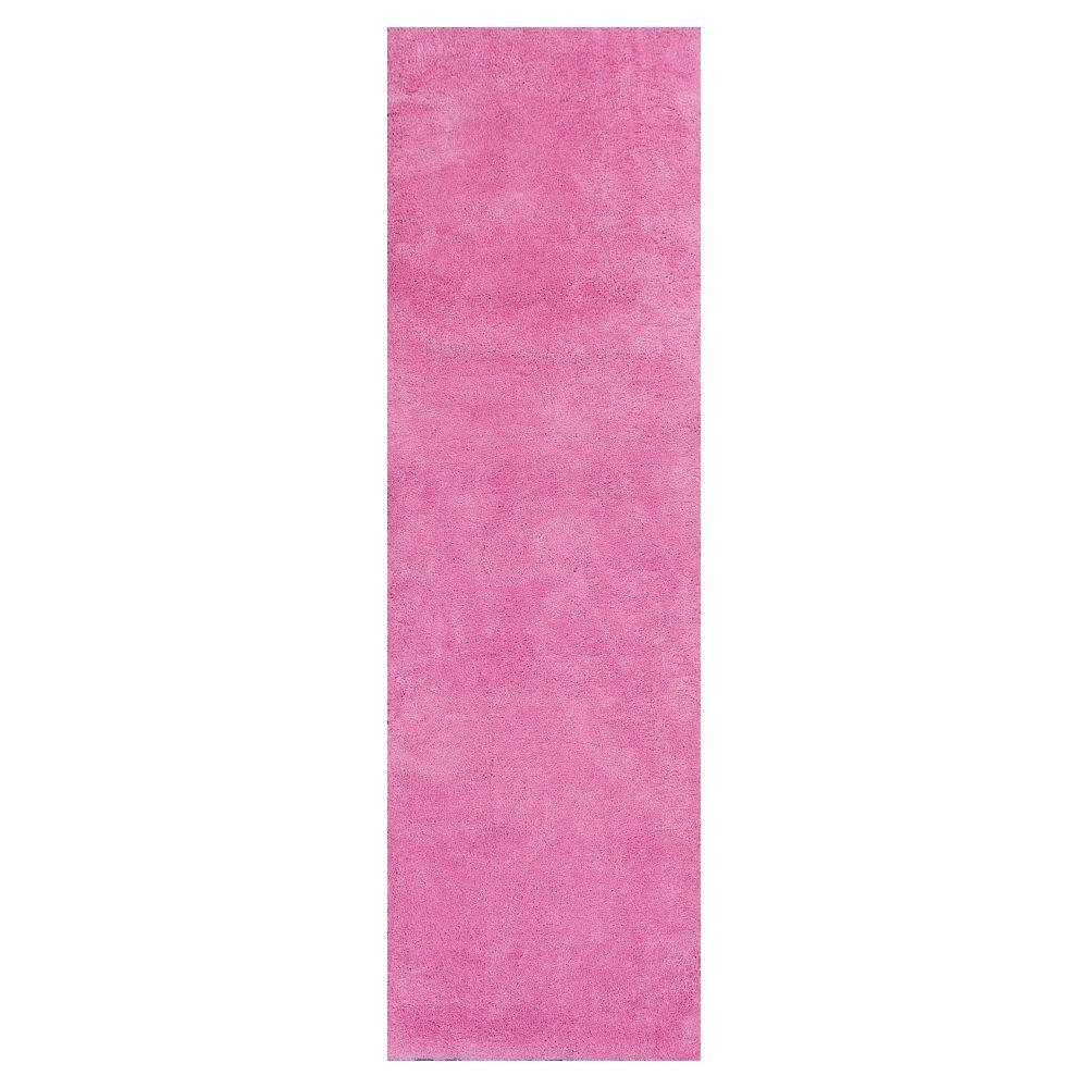 Home Decorators Collection Cozy Shag Hot Pink 2 ft. 3 in. x 7 ft. 6 in. Rug Runner