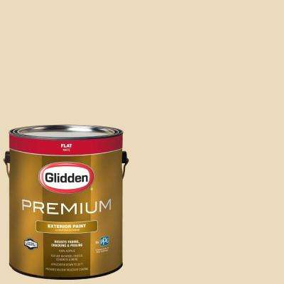 1-gal. #HDGY22 Country Cream Flat Latex Exterior Paint