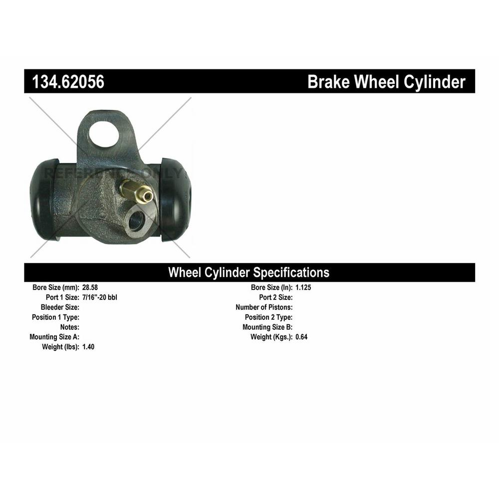 Drum Brake Wheel Cylinder-Premium Wheel Cylinder-Preferred Front,Rear Centric