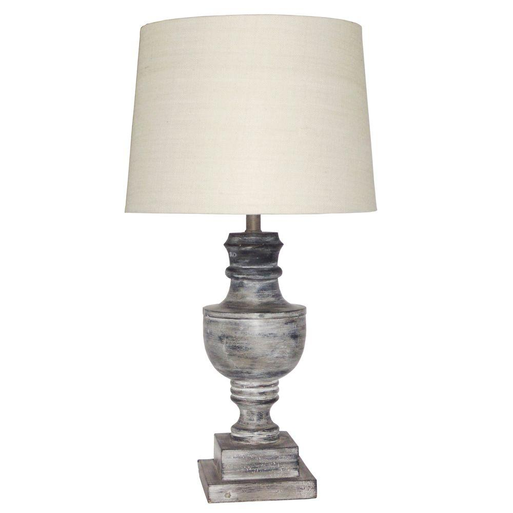 Kenroy Home Admiral 31 in. H Distressed Gray Table Lamp