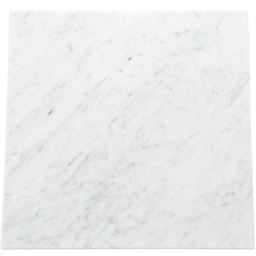 Daltile Natural Stone Collection Carrara White 12 In X Polished Marble Floor And Wall Tile 10 Sq Ft Case
