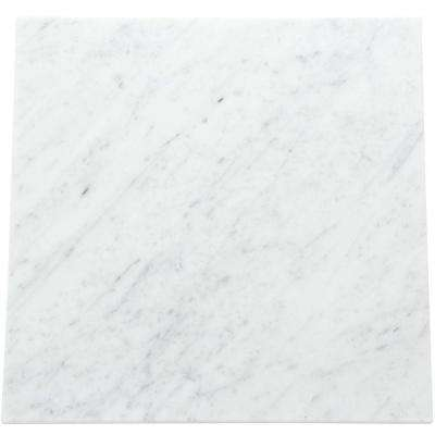Natural Stone Collection Carrara White 12 In X Polished Marble Floor And