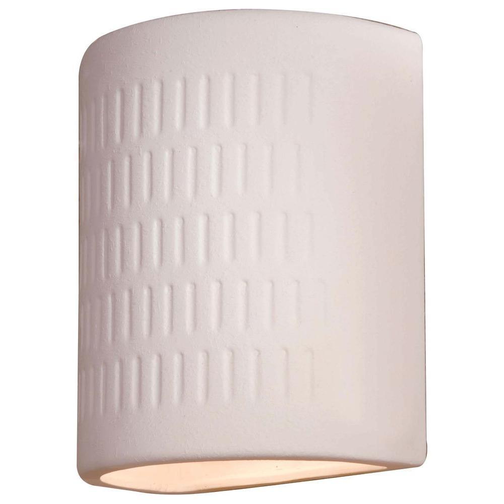 Ceramic 1-Light White Outdoor Pocket Lantern