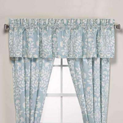 Rowland 15 in. L Cotton Pole Top Valance in Blue