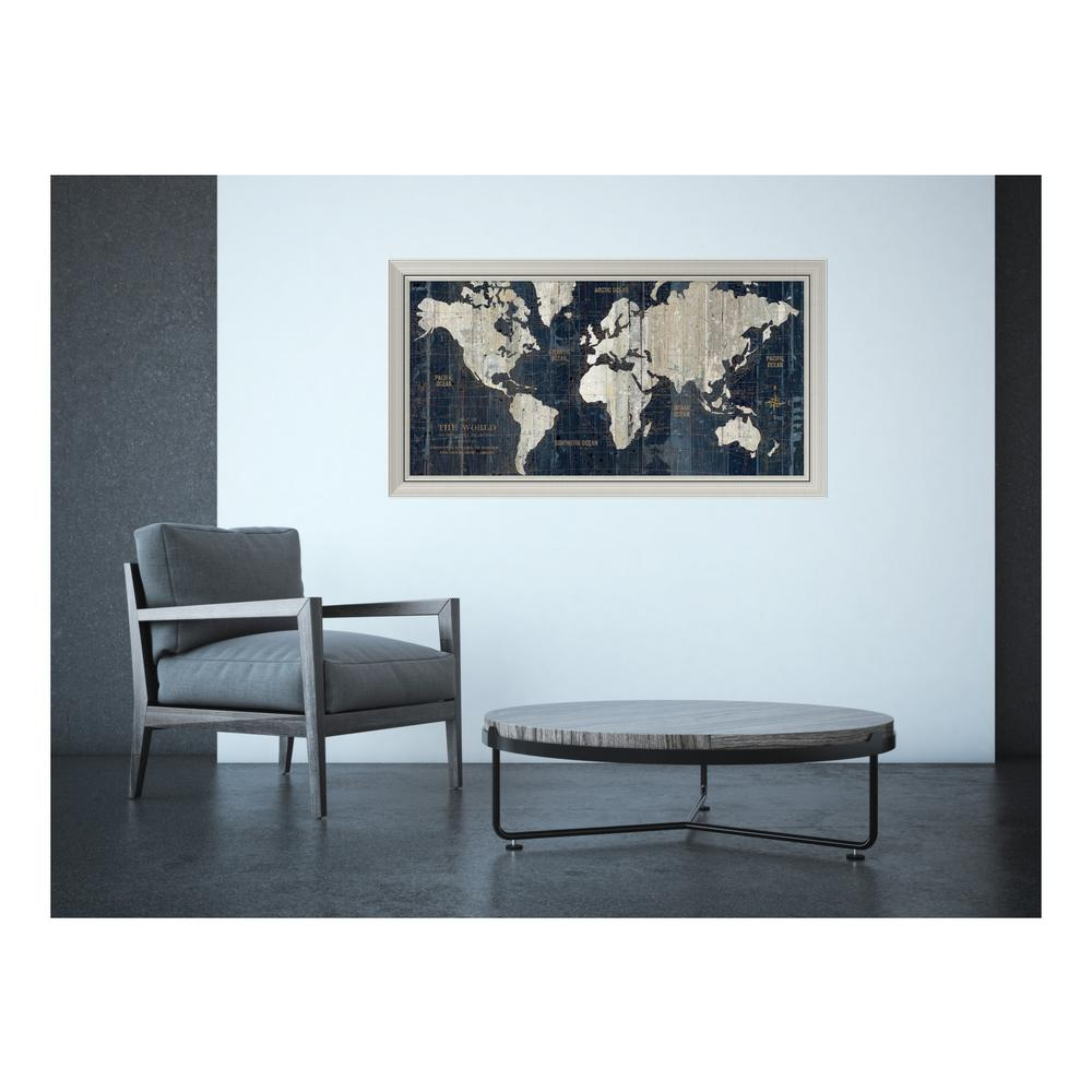 Amanti art 43 in w x 24 in h old world map blue by wild apple amanti art 43 in w x 24 in h old world map blue gumiabroncs Image collections