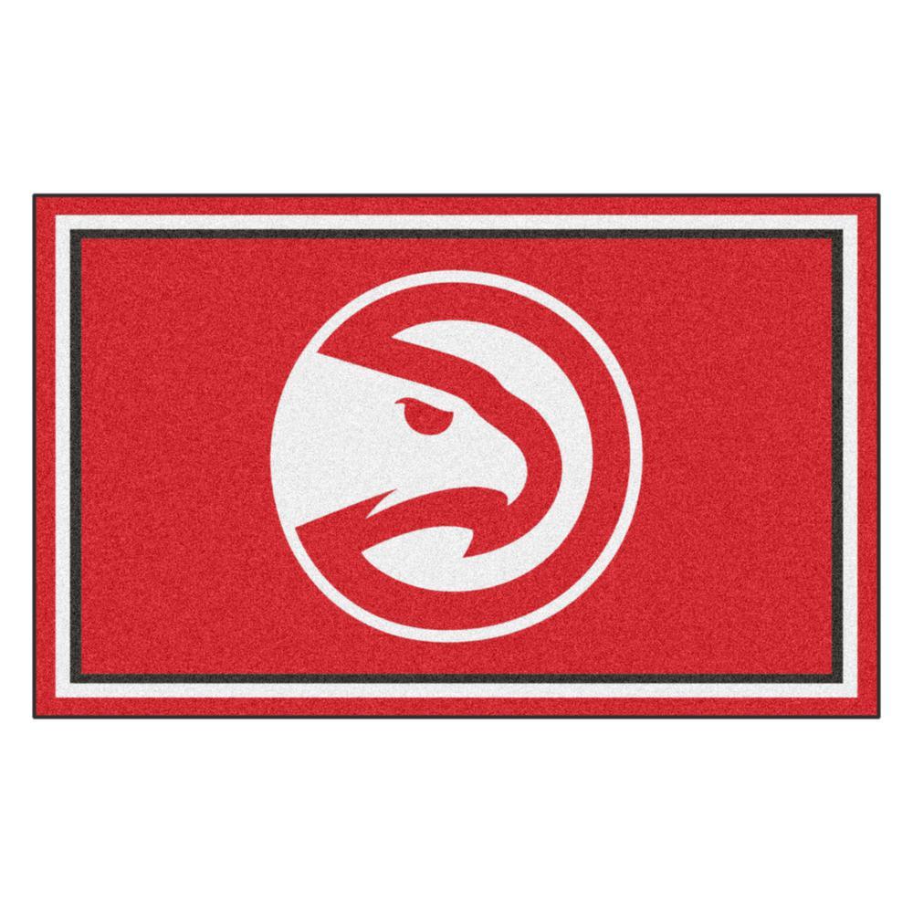 NBA - Atlanta Hawks Red 4 ft. x 6 ft. Area Rug