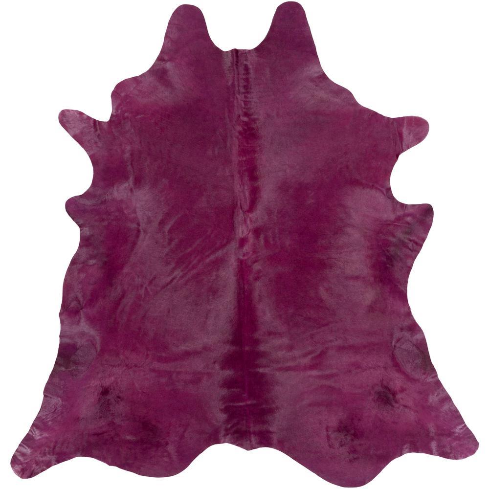 Apatin Dark Purple 7 ft. x 7 ft. Square Indoor Area Rug