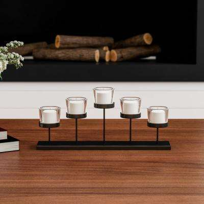 Tiered Votive Iron and Glass Candle Holder