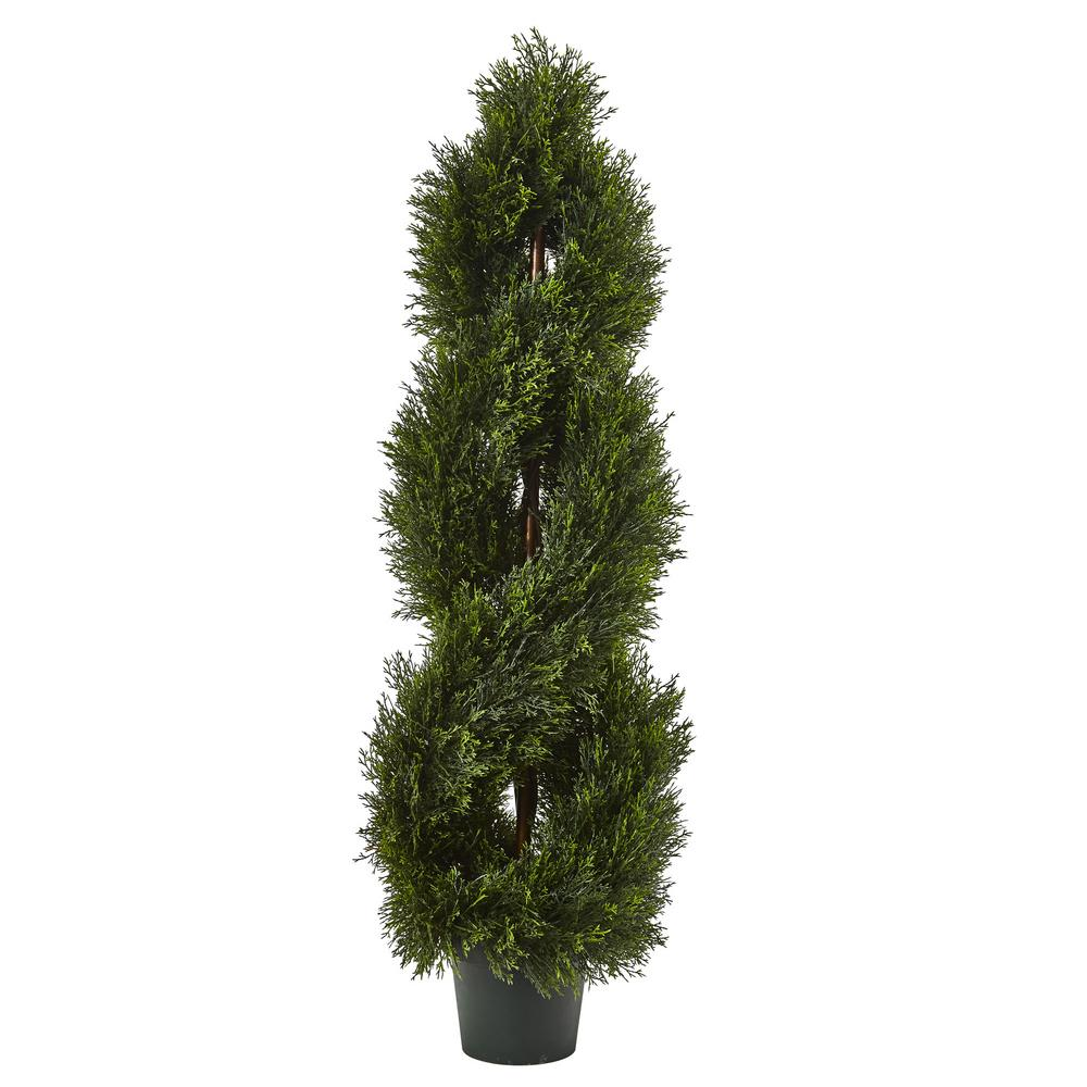 Nearly Natural Double Pond Cypress Spiral Topiary UV Resi...